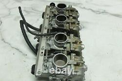 91 Suzuki GSX-R GSXR 750 GSXR750 Mikuni flat slide carbs carburetors set rack