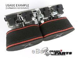 Air filters + velocity stacks Mikuni RS flatslide carburetor 34 36 38 40 racing