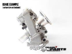 Aluminum velocity stacks wire mesh Keihin FCR 28-33 flatslide racing carburetor