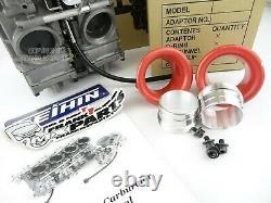 Dual horizontal Keihin FCR39 flatslide racing carburetor kit FCR 39 carburetors