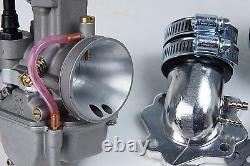 Flat slide PWK 24 Carburetor kit for Eton Viper 50 RXL-50 2T ATV Quads US CA