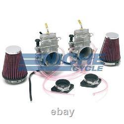 Honda CB350 CL350 CB360 Mikuni TM32 Flat Slide Carburetor Kit with Cables