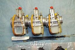KAWASAKI H2 750 NOS LECTRON FLATSLIDE CARBS WithNITROUS PORTS CARB CABLE MANIFOLDS