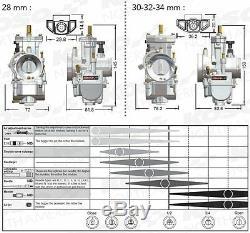 KOSO KSR 32mm carburetor features a semi-flat D-shaped slide