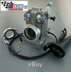 Kawasaki KLR650 Mikuni Carb, TM42-6 42mm Flatslide Pumper Kit, Knob Choke
