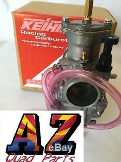 Keihin PWK 28mm 28 mil Chrome Flat D Slide Carb Carburetor Yamaha Honda Suzuki