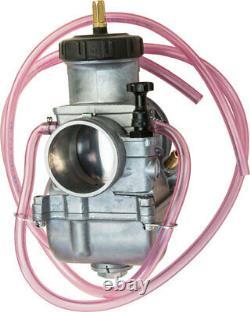 Keihin PWK 39mm 39 mil Chrome Flat D Slide Carb Carburetor LT500 TRX250R CR500