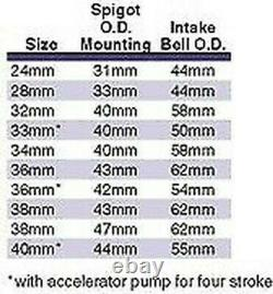 MIKUNI TM FLAT SLIDE CARBURETOR 36MM WithACCELERATOR PUMP TM36-68 36 mm 42-6093