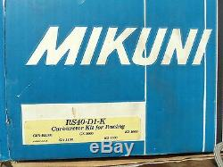 Mikuni RS 40-D1-K flat slide racing motorcycle carburetors