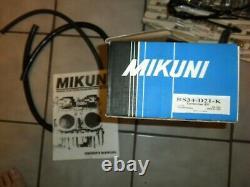 Mikuni RS34-D21-K 34mm RS Radial Flat Slide Carburetors Carbs Smoothbores