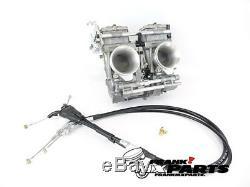 Mikuni TDMR 40 flatslide racing carburetors Yamaha TDM 850 carburetor upgrade