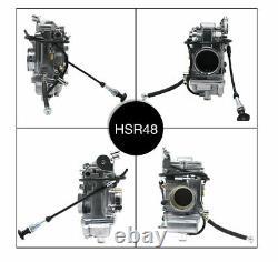 Motorcycle Racing HSR 48mm Carburetor For Harley Davidson FLHR FLHFB FLHT