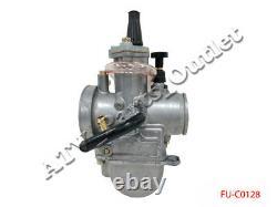 Racing Flat Slide Carburetor for OKO 28mm 2 stroke cycle Scooter Dirt Bike ATV