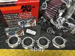 SUZUKI GSXR 750 1100 Keihin FCR Flat Slide Carburetor Adapters + K&N Filter Kit