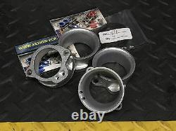 Set of 4 Airbox Adapters 60mm Keihin FCR 35-41 Flat Slide Carburetors K&N POD