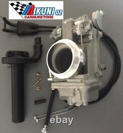 Suzuki DR650 Mikuni Carburetor, TM42-6 42mm Flatslide Pumper Kit using OEM Choke